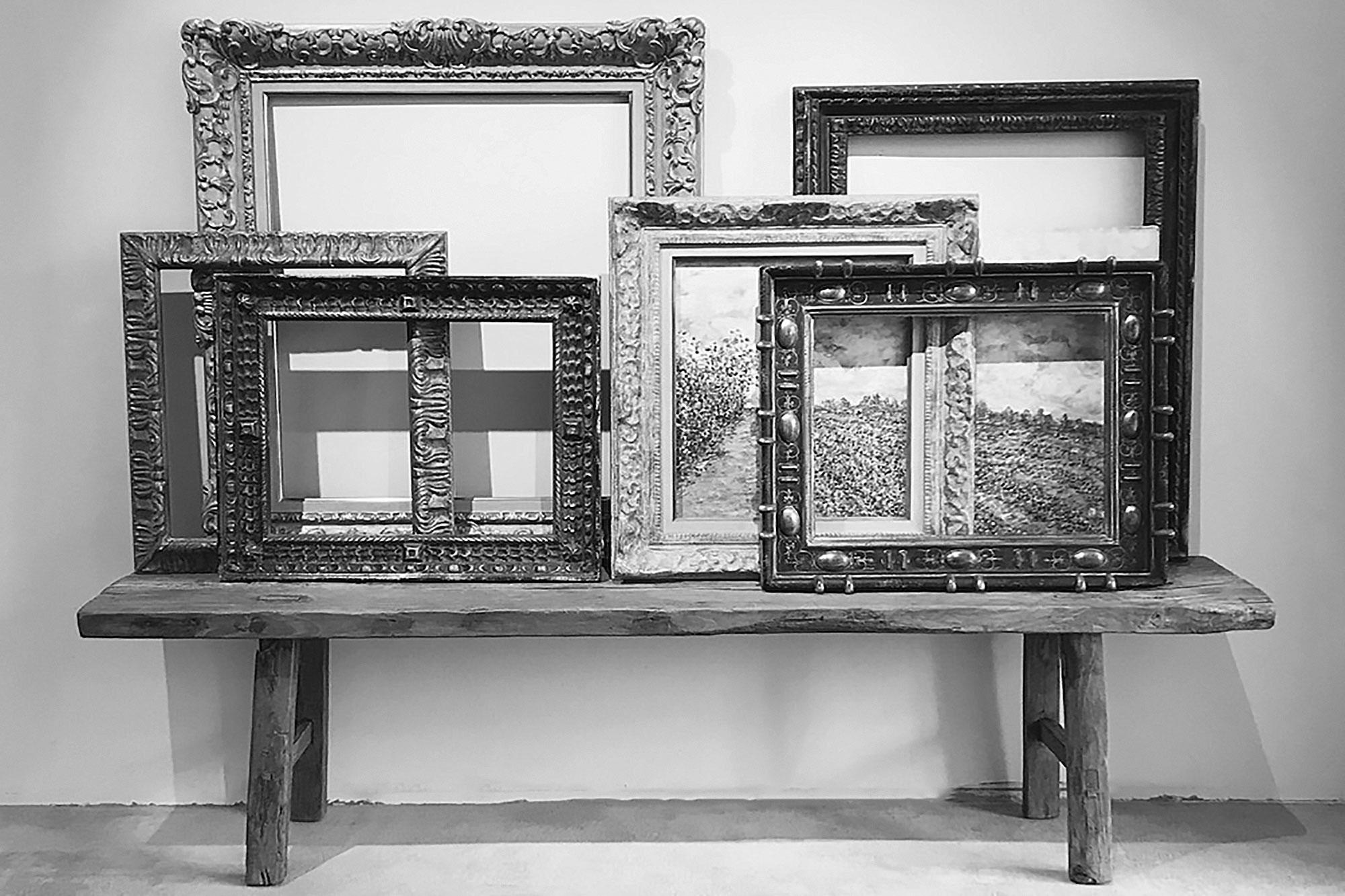 Neess encadrement atelier encadreur cadres de style ancien rg gault réalisés à la main gamme rectangle rue du page Châtelain Bruxelles